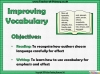 Improving Vocabulary (slide 2/9)